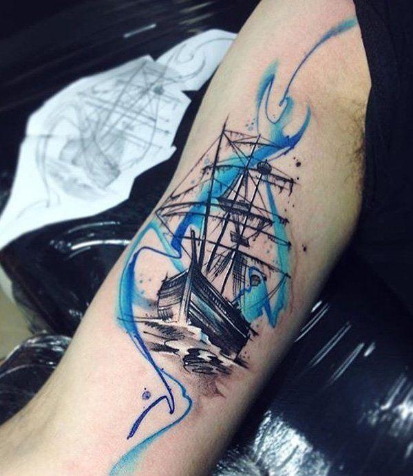 bb31d806d 100 Boat Tattoo Designs   Tattoo Ideas ♡   Watercolor tattoo ...