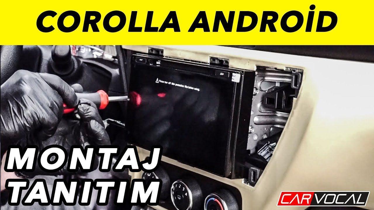 Toyota Corolla Android Teyp Montaj ve Tantm Toyota corolla