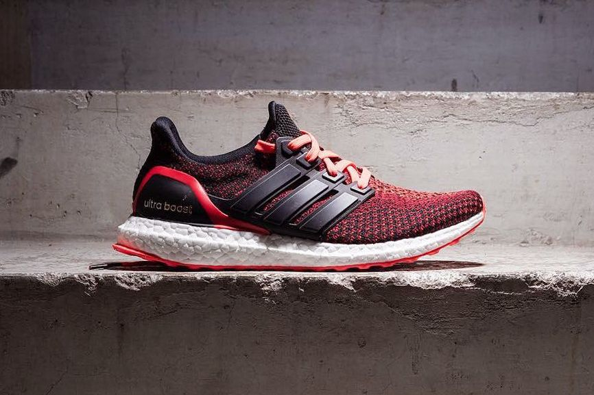 Adidas Ultra Boost Black White Red