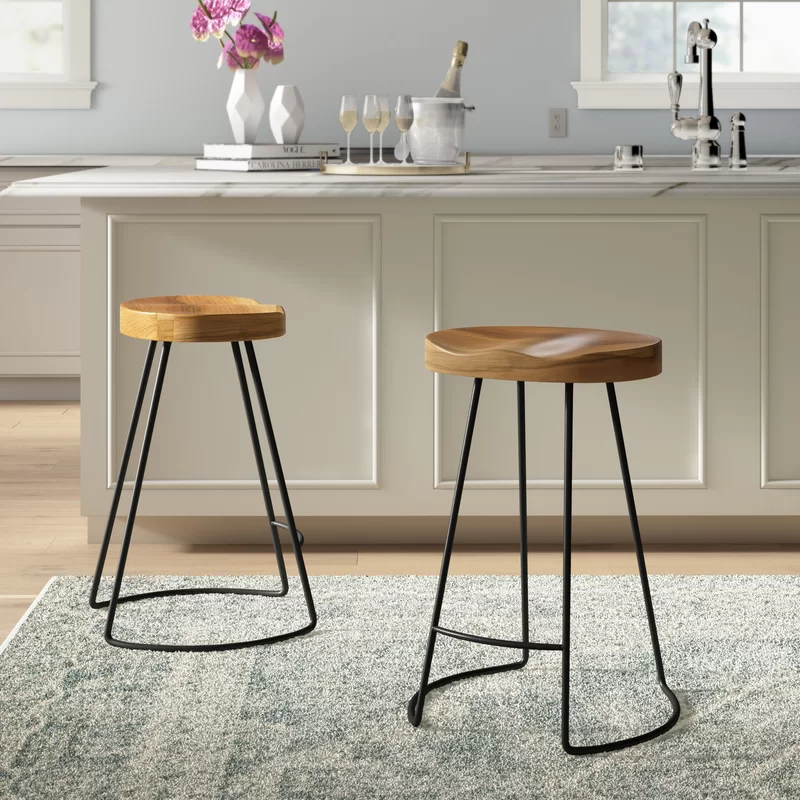 Barraute Solid Wood Bar Counter Stool Counter Stools Wood Counter Stools Counter Height Bar Stools