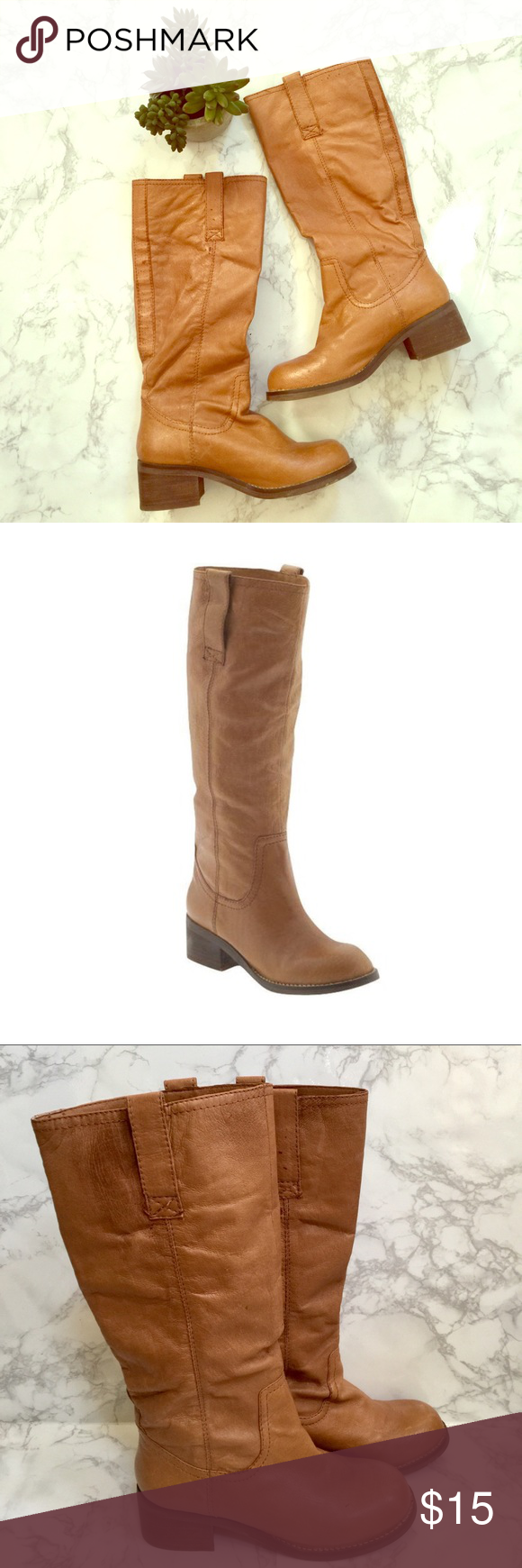 Steve Madden Foreway boots Foreway high shaft low heeled boots. Some scuffs and discoloration adding to vintage look. Steve Madden Shoes Heeled Boots