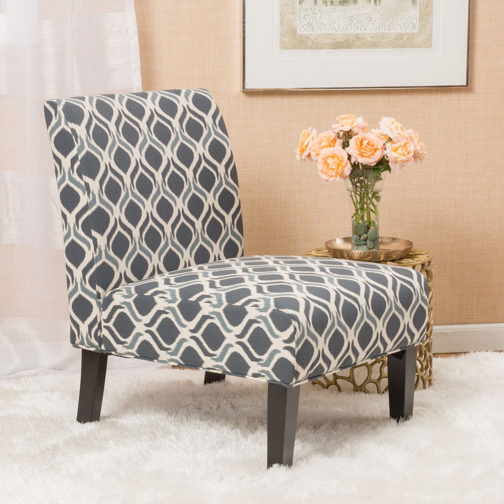 Printed Chairs Living Room Kalee Navy Blue Print Fabric Dining Chair Products Fabric