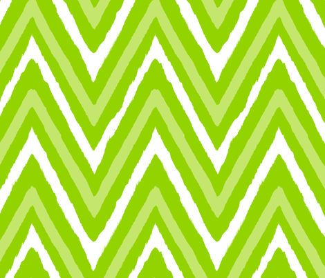 Christmas Chevron - green white fabric by fable_design on ...