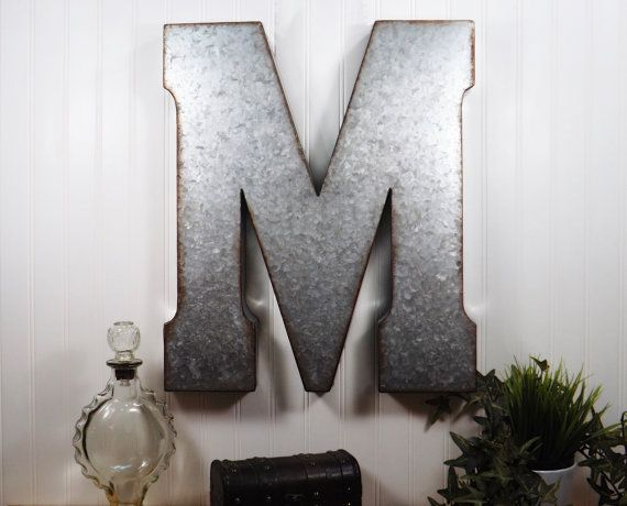 $12 Etsy. Large Metal Letter/ 12 inch Metal Letter/ Wall Decor