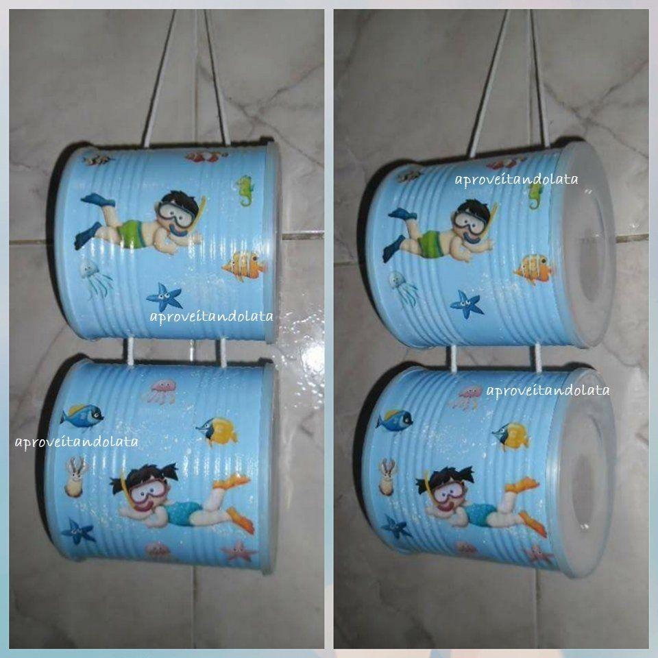 Porta Papel Higienico Utilizando Reciclagem Com Latas De Mucilon