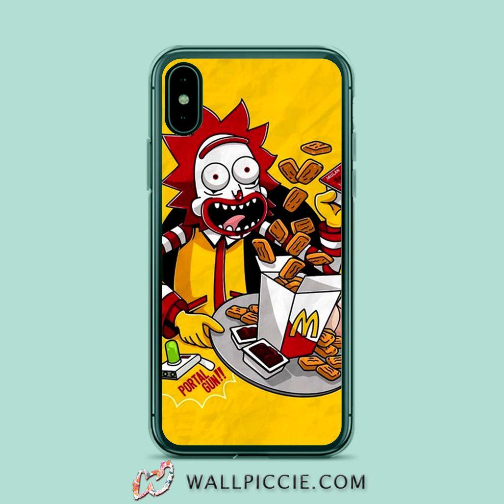 Rick morty mc donald parody iphone xr case iphone xs