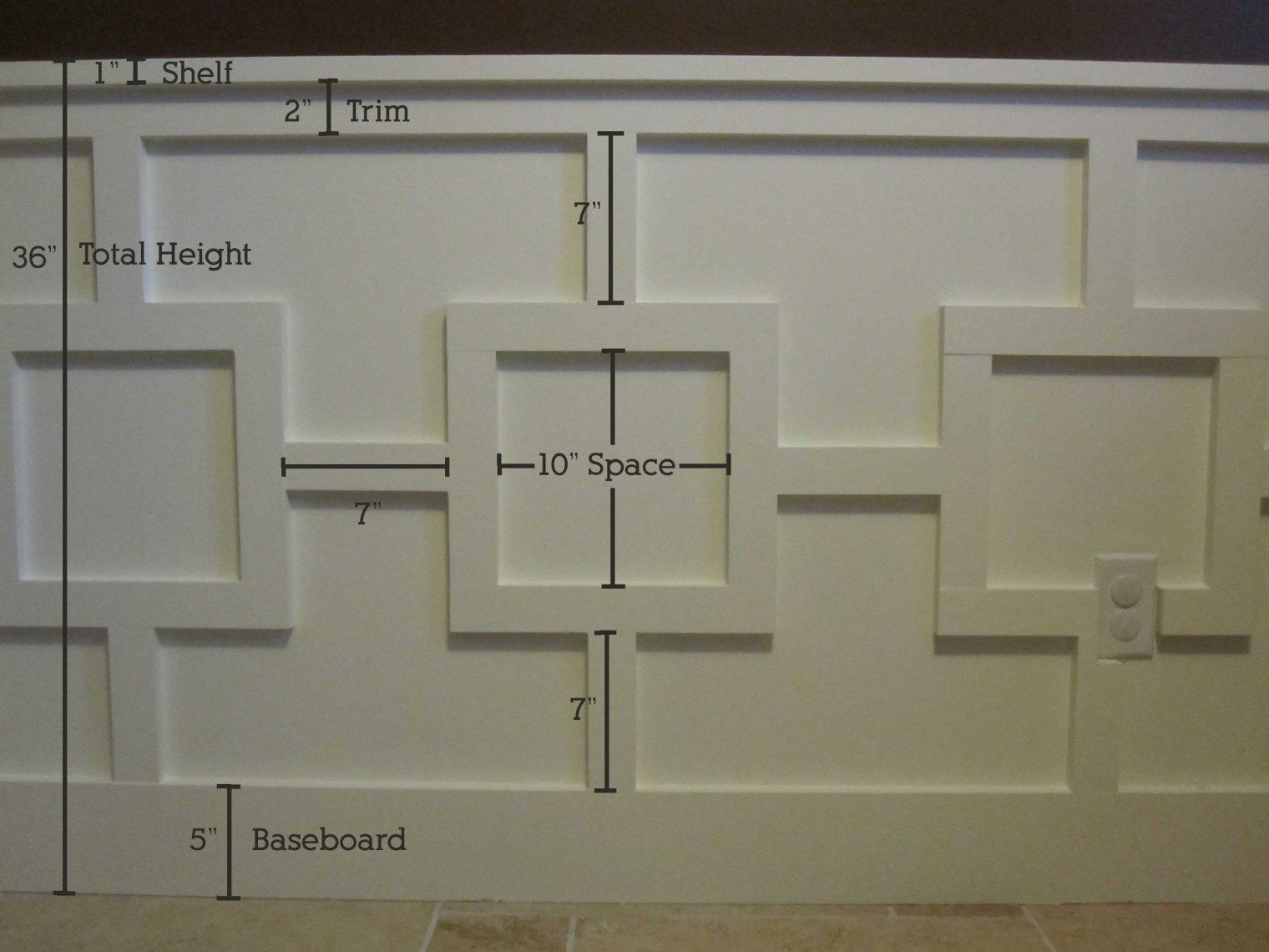 Hallway trim ideas  While planning my office I fell in love with a box pattern so much