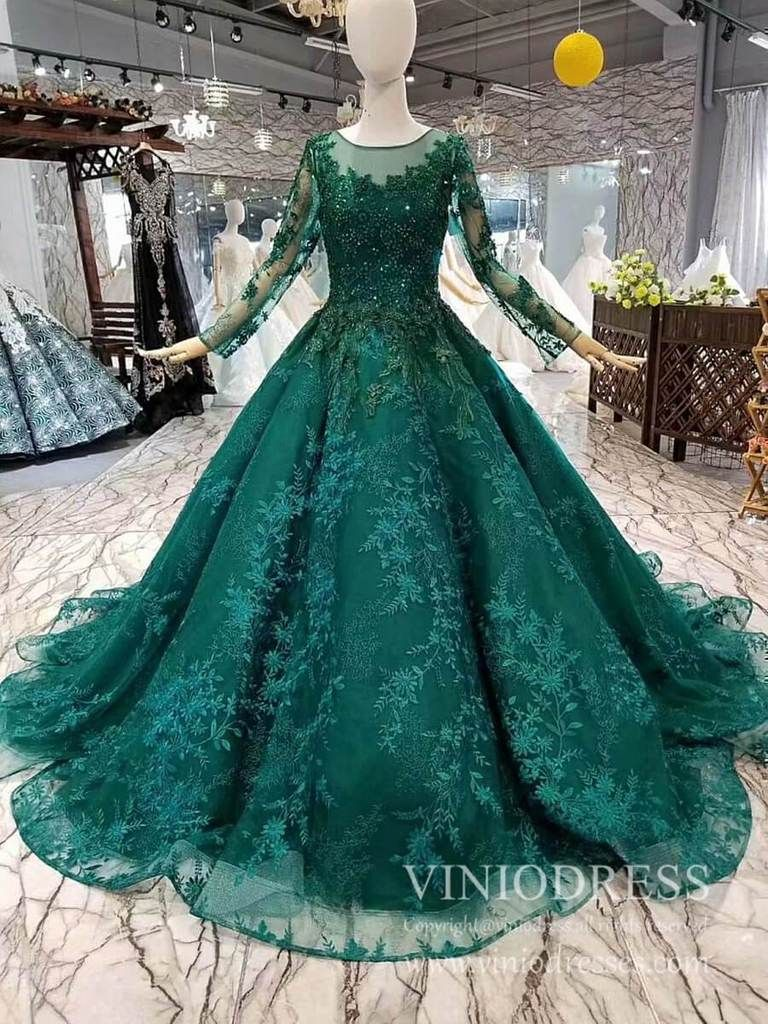 Vintage Long Sleeve Emerald Green Lace Prom Dresses Cheap Formal Dress Fd1937 In 2021 Muslim Evening Dresses Cheap Formal Dresses Gowns [ 1024 x 768 Pixel ]