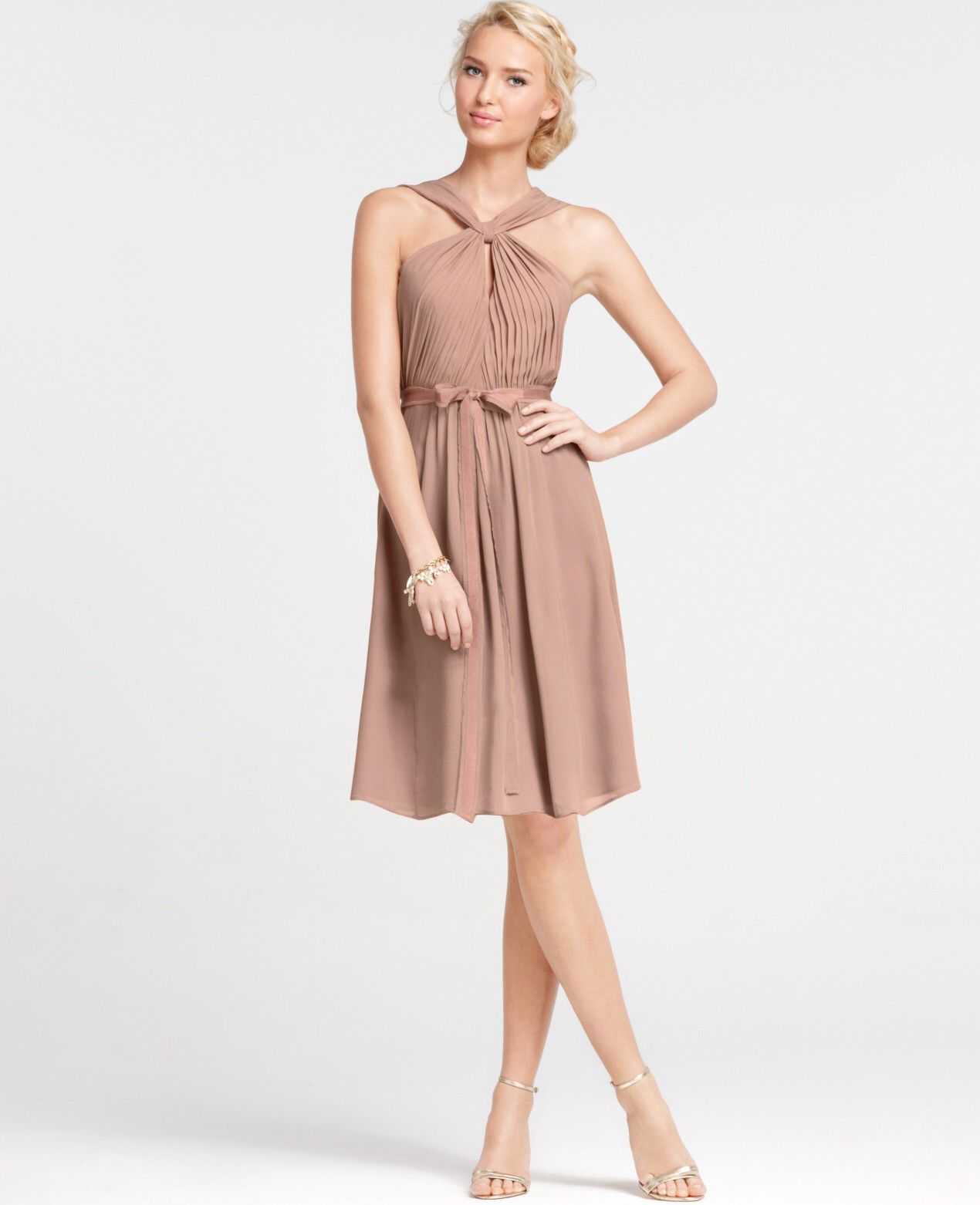 Image from httpeaweddingwp contentuploads20120321 ann taylor silk georgette keyhole halter bridesmaid dress taylor me pretty ombrellifo Images
