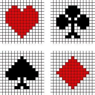 Kruissteek patronen kaart symbolen. Kruissteek borduren ...