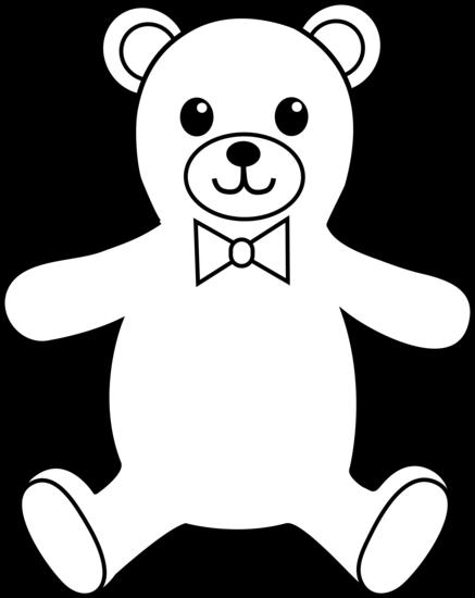 Teddy Bear Colorable Line Art Free Clip Art Teddy Bear Outline Free Art Free Clip Art