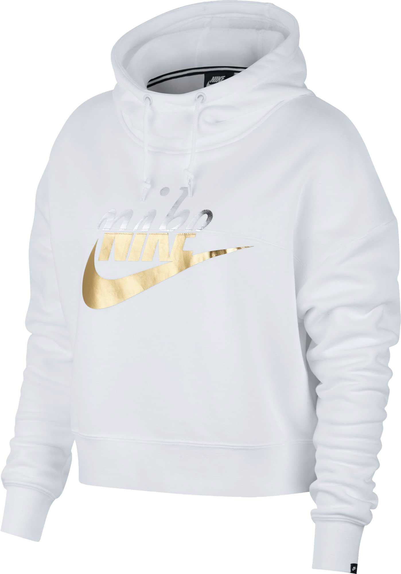 sports shoes discount sale pick up Nike Women's Metallic Rally Hoodie, White in 2019 | Nike ...