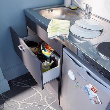 Petite cuisine  10 aménagements déco gain de place
