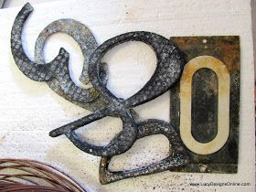 Aged Rusty Metal House Numbers