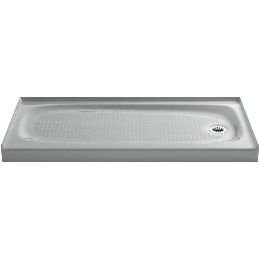 Kohler Salient Ice Grey Cast Iron Shower Base 30 In W X 60 In L