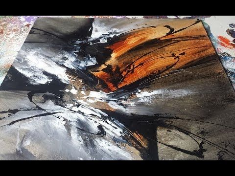 Abstract acrylic painting black and white abstrakte acrylmalerei schwarz und weiß youtube