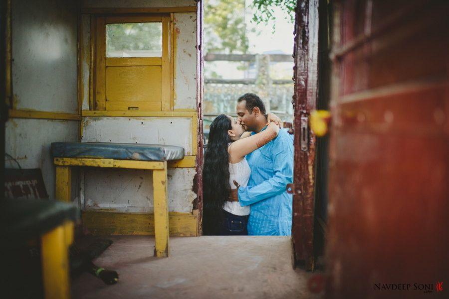 Pre-Wedding Couple Shoot Ahmedabad Railway Station
