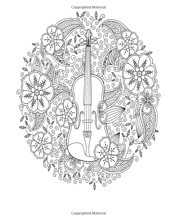 Amazon.com: Coloring Books for Adults - Mosaic Music ...