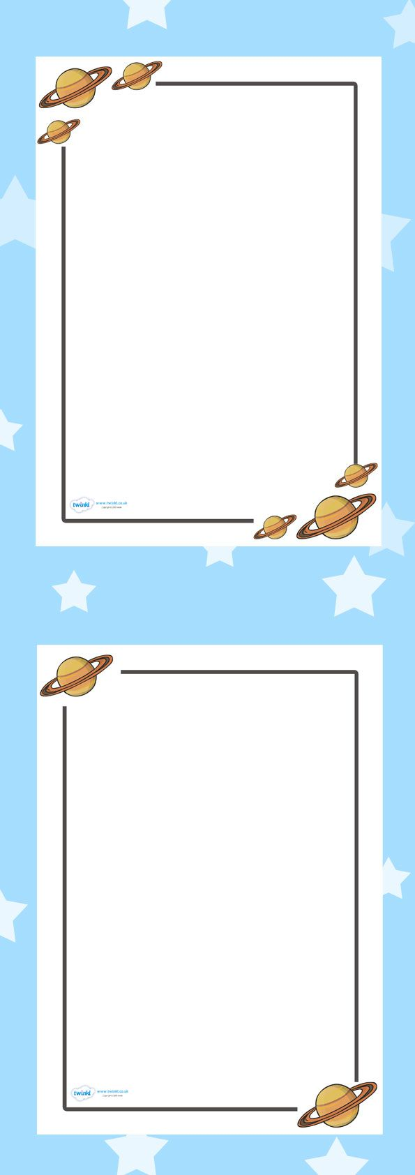 Preschool border page border - Twinkl Resources Space Page Borders Classroom Printables For Pre School Kindergarten Elementary School And Beyond