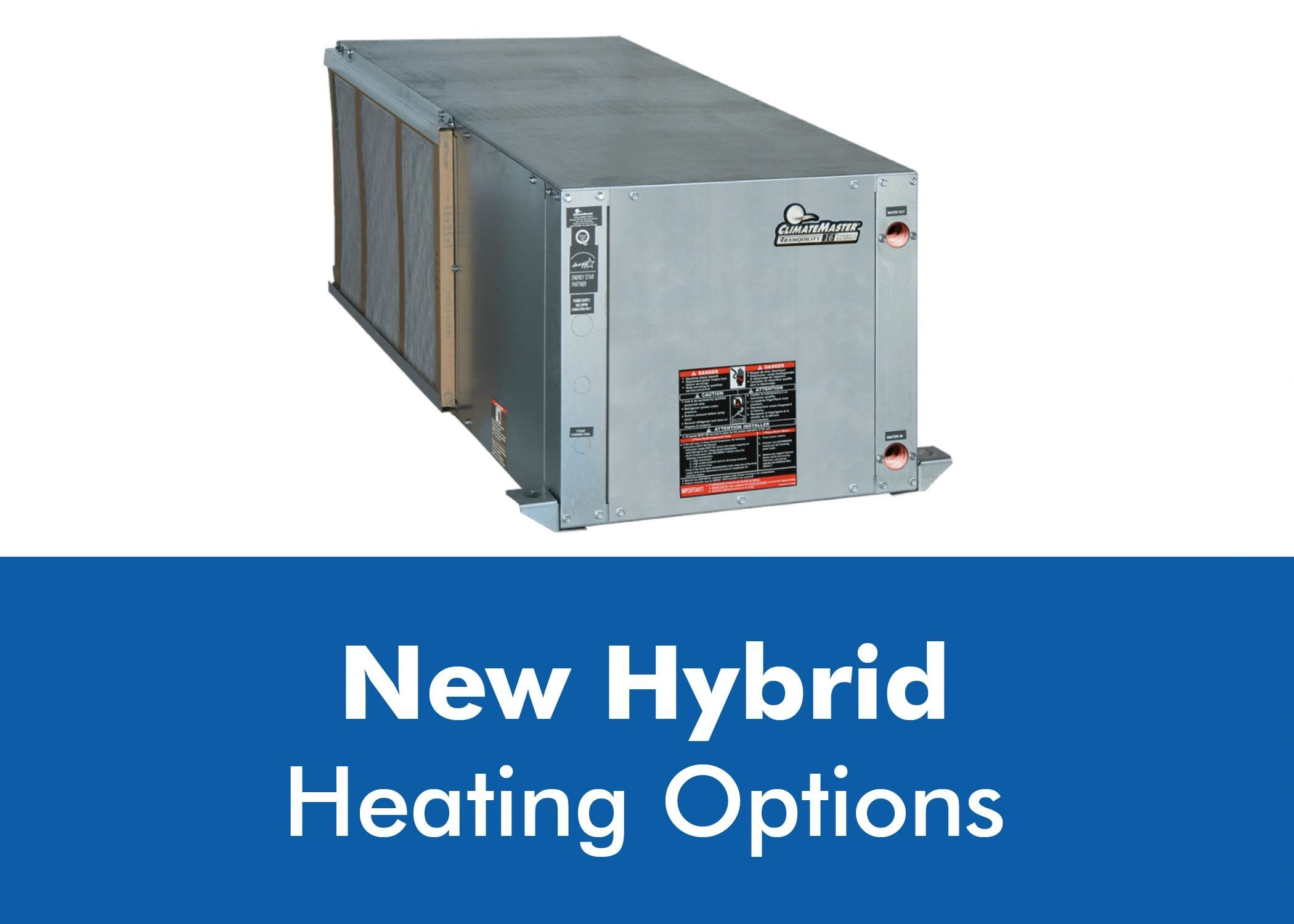 New Hybrid Heating Options For Tr Horizontal Hybrid Hydronic
