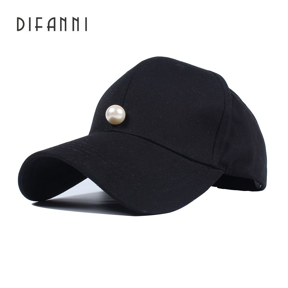 Difanni Spring Winter Warm Hats Female Pearls Solid Baseball Cap Women  Cotton Garros Adjustable Snapback Hats 4c005619b6f9