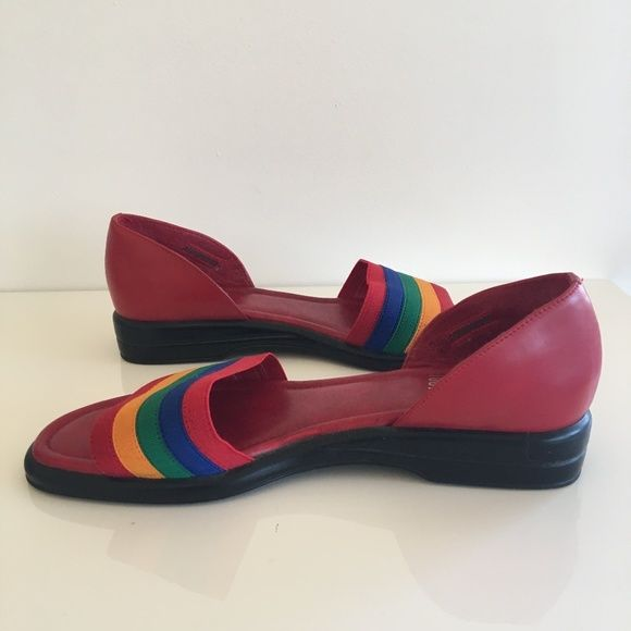 b3a0c594ecd0 Vintage Shoes - Vintage Mootsies Tootsies Rainbow Sandals Size 6.5 ...