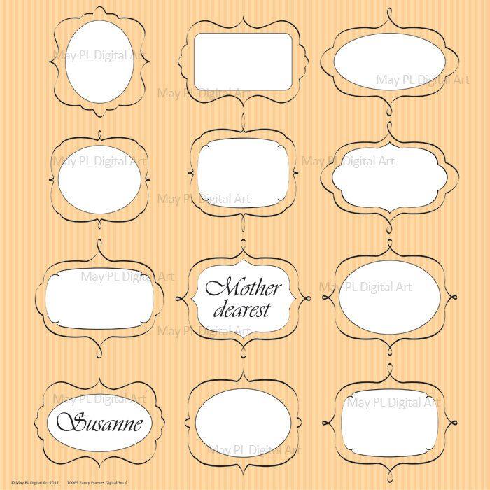 I like the oval frames | templates | Pinterest
