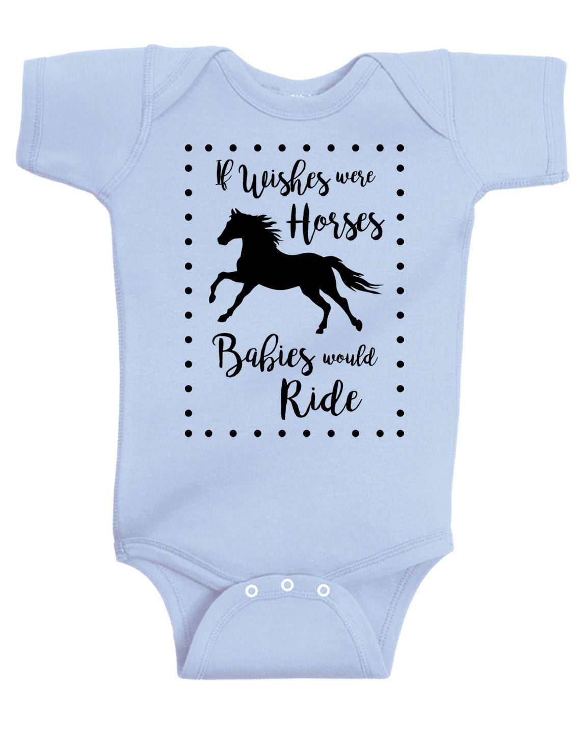 3756a24898 FINAL SALE  If Wishes Were Horses Baby Horse Onesie