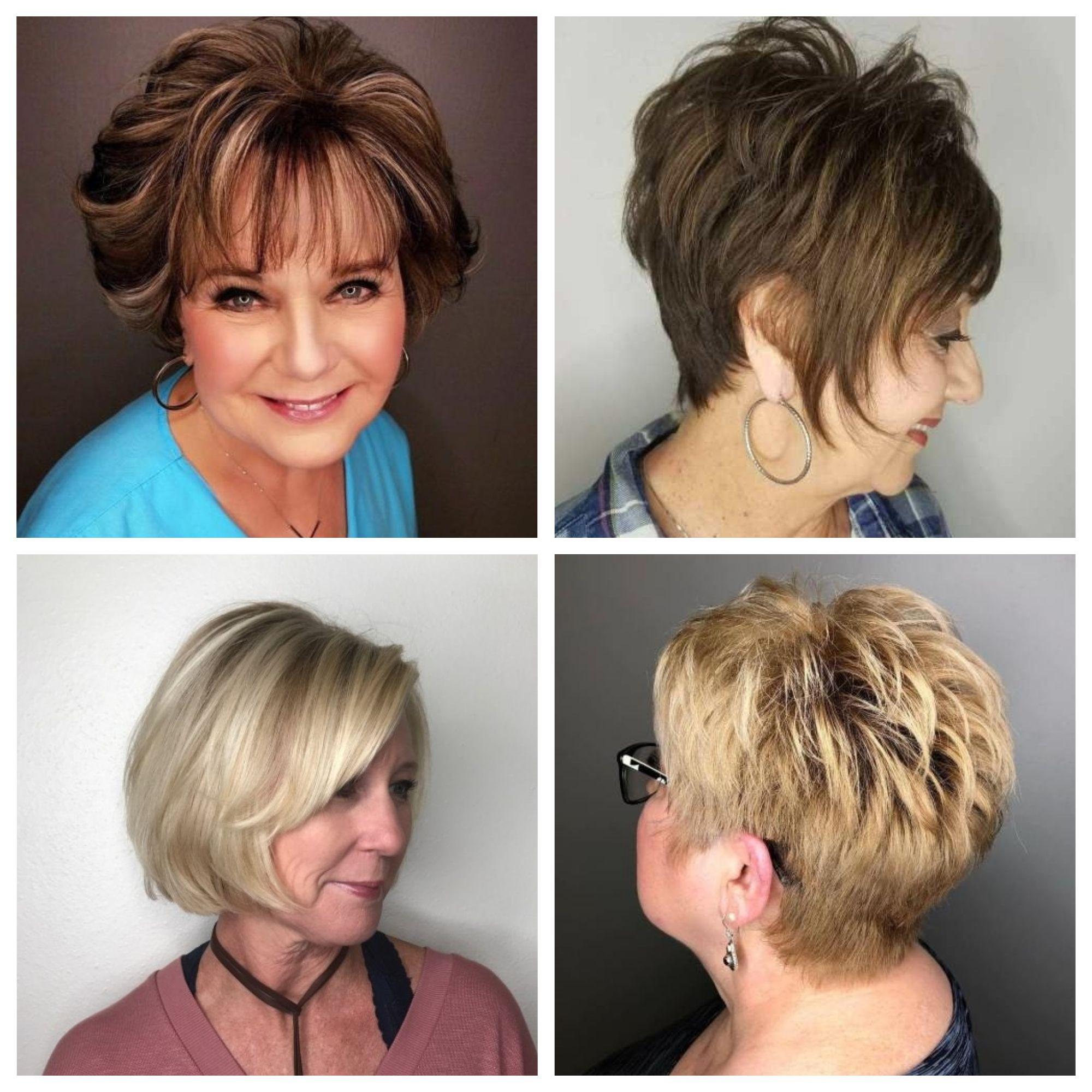Kurze Frisuren für Frauen Über 60 | Short straight hair ...