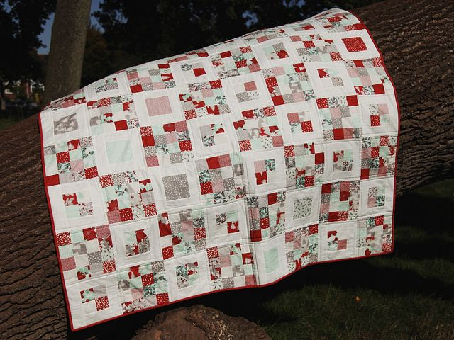 Four Squared 64x80, one charm pack and 1 jellyroll
