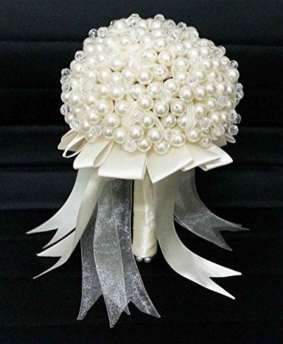 Wedding Bouquet Bride Holding Flowers Pearl Luxury Flyme