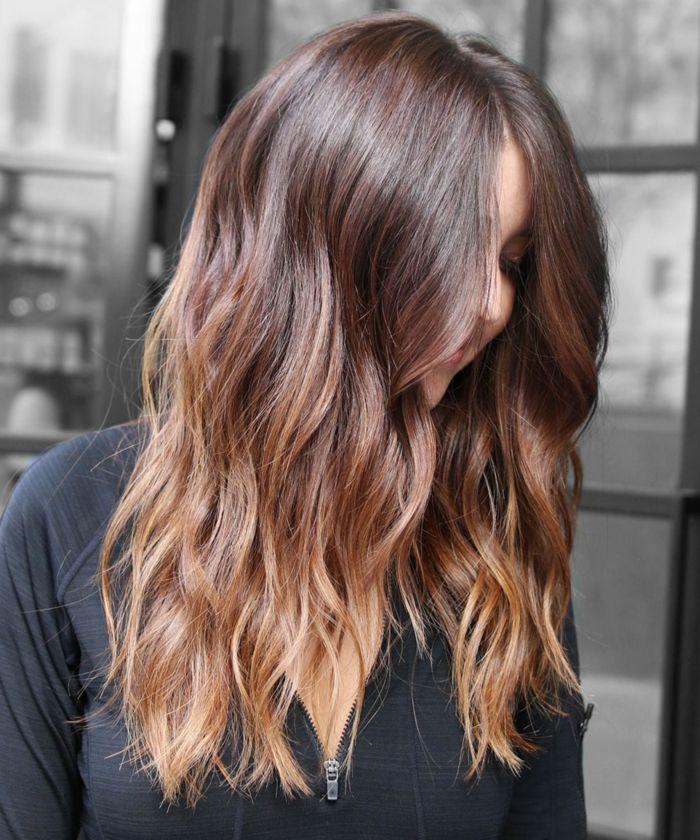 Coloration de cheveux hiver 2019
