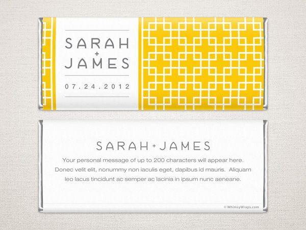 Bold And Beautiful This Modern Chocolate Bar Wrer Is Suited To A Variety Of Events