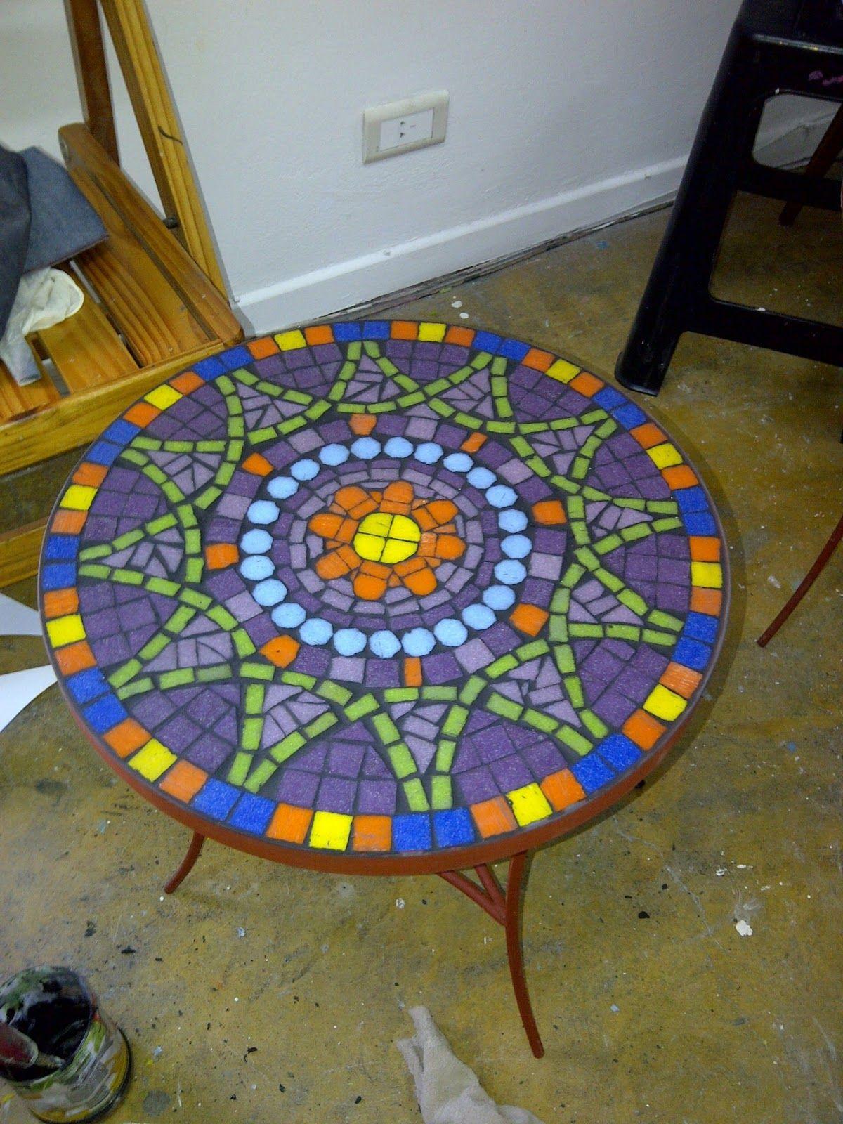 GwendyDecoración :: Mosaiquismo: TALLER DE MESAS   Mosaicos ...