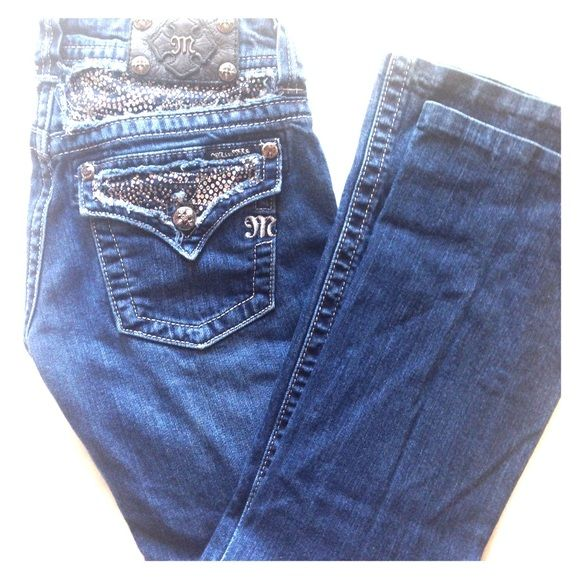 """Gorgeous Miss Me Jeans Size 27! Buy this gorgeous pair of Miss Me Jeans! They are Boot Cut, size 27, and have been professionally hemmed to a 28"""" inseam! Excellent condition! Miss Me Jeans Boot Cut"""