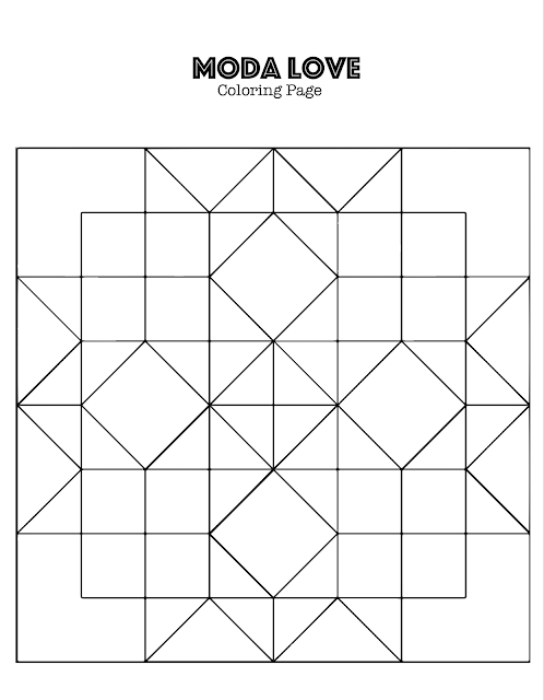 Moda Love Quilt Along And Coloring Page Barn Quilt Patterns Half Square Triangle Quilts Star Coloring Pages