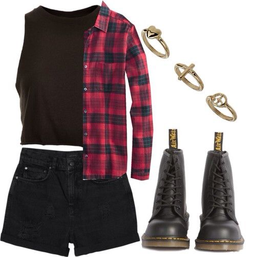 Dr Martens and a flannel shirt. Perfect combination to any outfit!