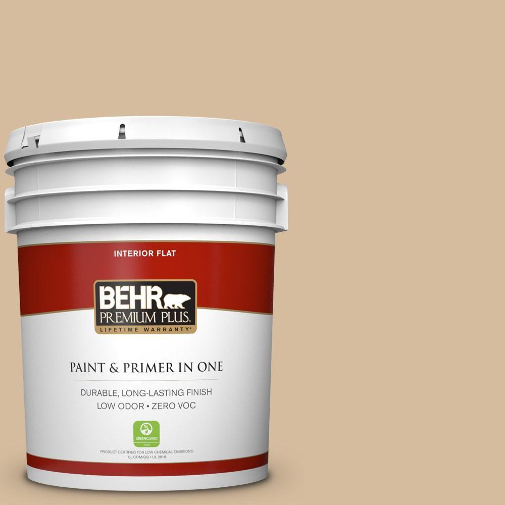 Good #T18 06 Kombucha Flat Zero VOC Interior Paint And Primer In One 140005    The Home Depot