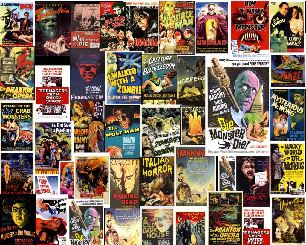 Vintage Horror Movie Posters | Classic horror movies, Horror and ...