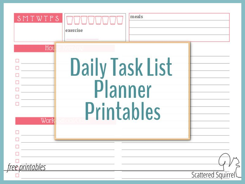 Use a Daily Task List Planner to Avoid Feeling Overwhelmed Feeling - daily task planner template
