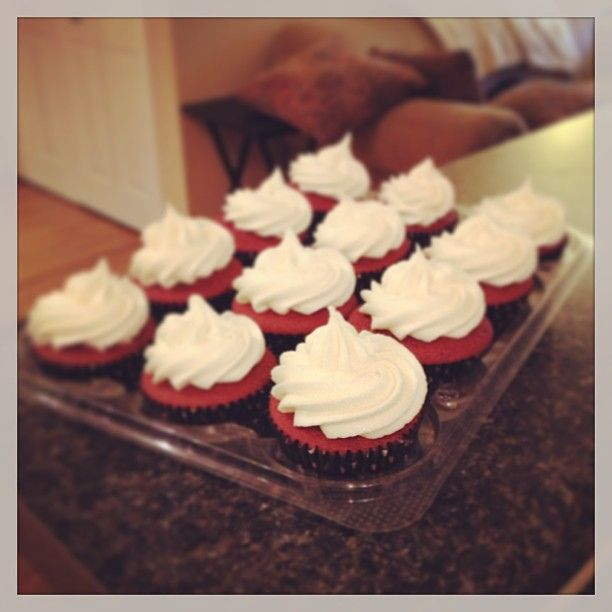Delish Red Velvet Cupcakes with Rich Cream Cheese Frosting!