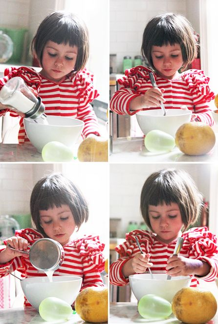 """GIRL LIKES PANCAKES """"We make pancakes every morning. Stella tells me what goes in—she knows to put flour, eggs, milk—she's good."""""""
