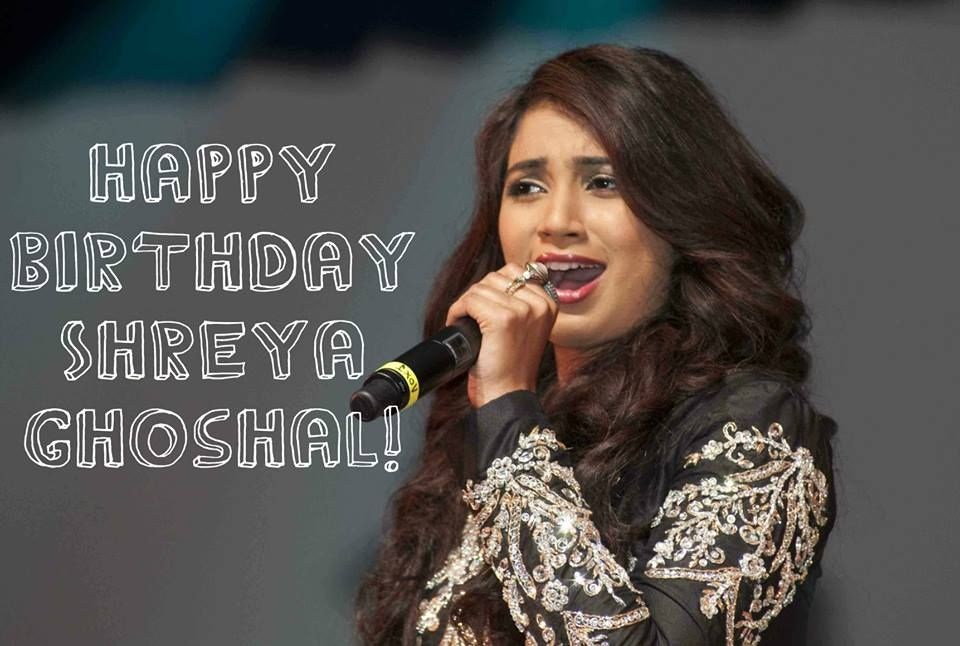 Shreya Ghoshal (born 12 March 1984) is an Indian playback singer who