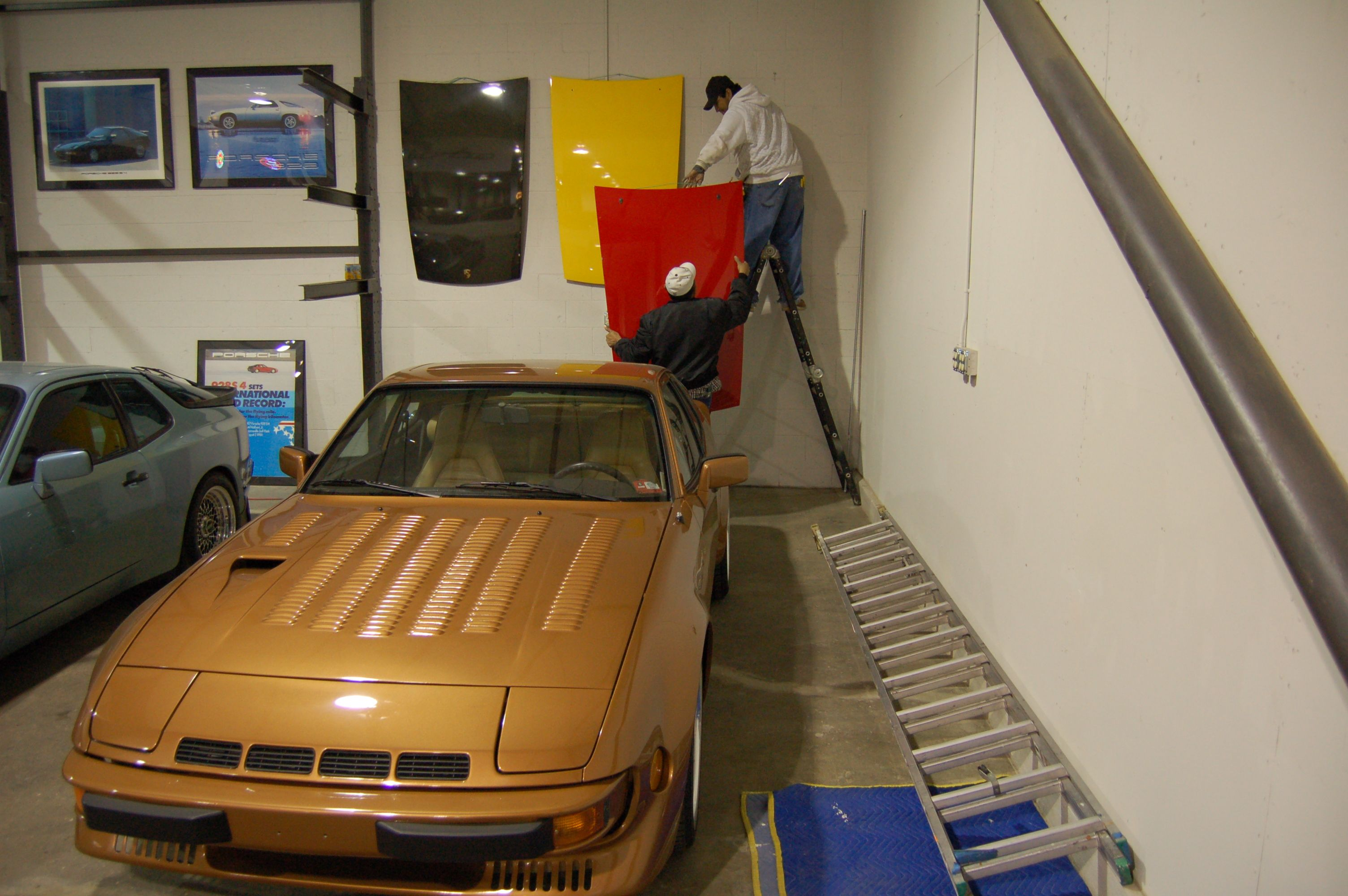The Modified Hal Holbert 924 Turbo at my New Hanger Location