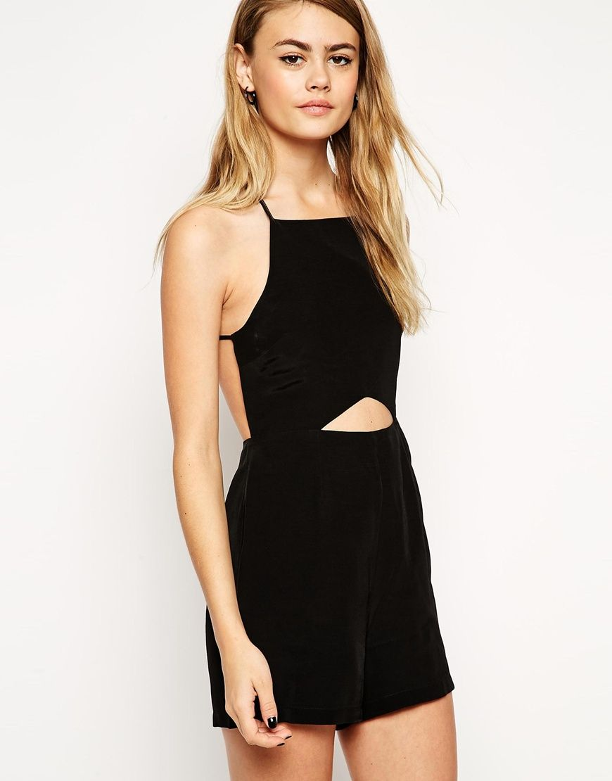 76b6e0db5ac Image 2 of ASOS Open Back Playsuit with Cut Out