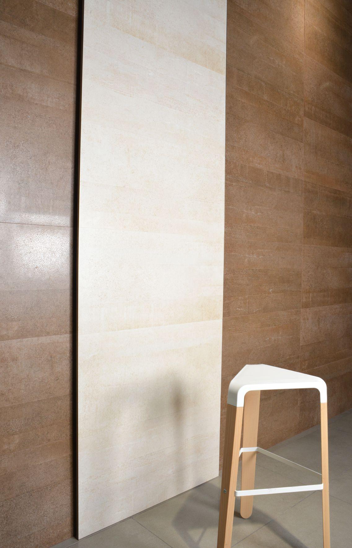 Colección Beton. Disponible en 30x60, 60x60, 22.5x90 y 45x90 cm. #beton #marron #sable #tauceramica #ceramica #tile #porcelanico #porcelaintile #revestimiento #walltile #interiordesign