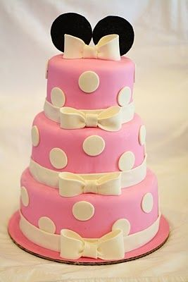 Minnie Mouse 3 tier Birthday Cake Cakes and Cupcakes for Kids