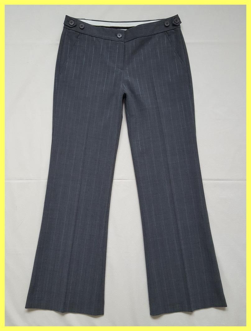 b6932b5d7 Theory Pinstripe Stretch Wool Wide Leg Flare Trousers Boot Cut Pants. Free  shipping and guaranteed