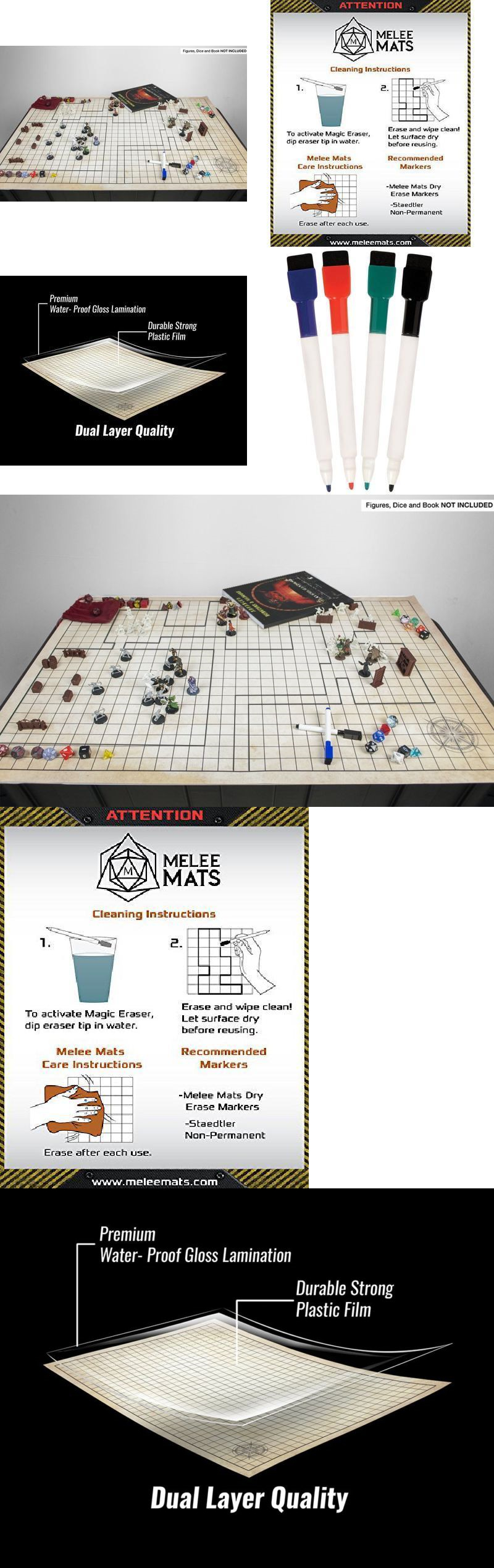 Accessories 2544: Battle Grid Game Mat Role Playing Game Map