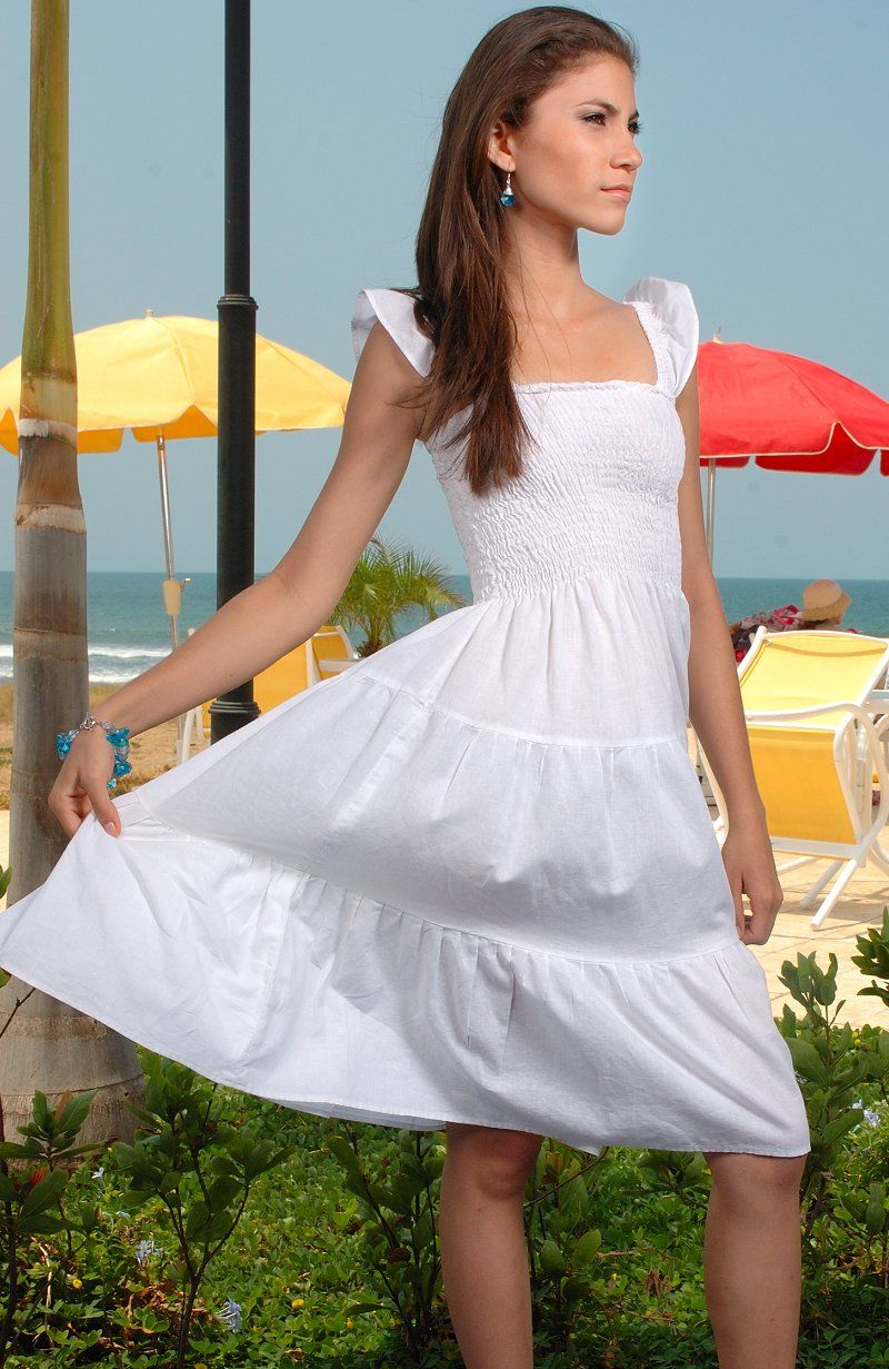 Simple linen dress can be worn after wedding great for the beach